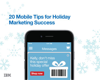 A smartphone with a holiday marketing email on the screen