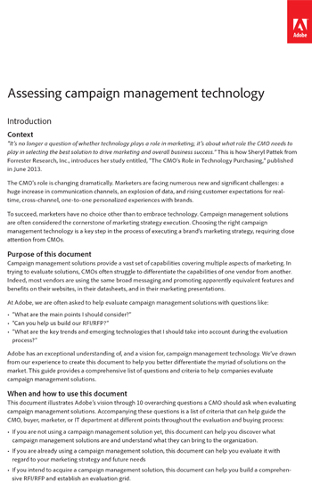 Assessing Campaign Management Technology | Bizibl.Com