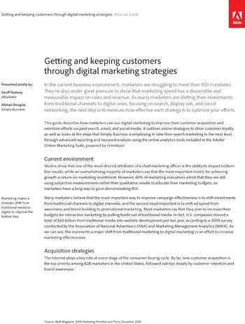 getting and keeping customers through digital marketing