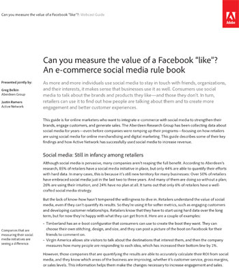 Can you Measure the Value of a Facebook 'Like'? | bizibl com