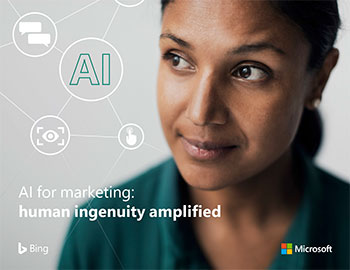 AI for Marketing, human ingenuity amplified - front cover, thumbnail