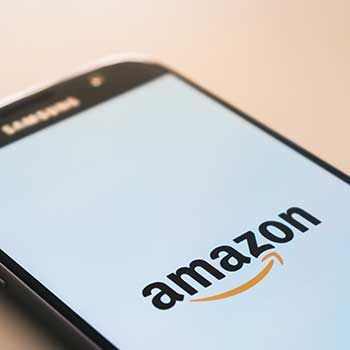 Amazon app, open on mobile phone