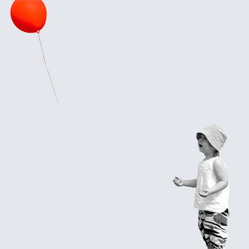 A child, watching their balloon floating away, to represent lost opportunity