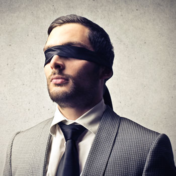 Blindfolded Business Person