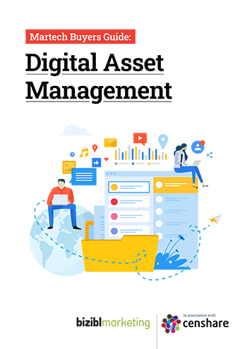 Front Cover Thumbnail, Martech Buyers Guide for Digital Asset Management