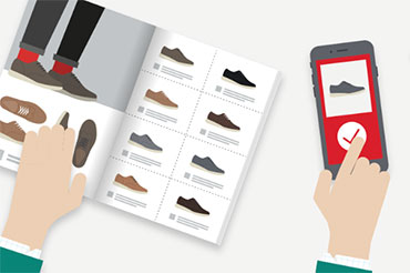 Catalogue and mobile phone purchase