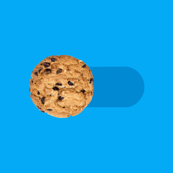 A toggle switch with a cookie instead of the usual circle, set in the off position