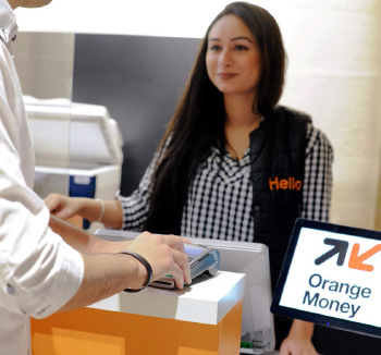 Orange retail employee