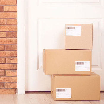 packages outside a front door