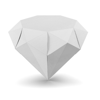 Origami Paper Diamond