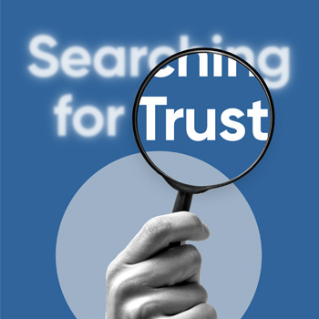 'Searching for Trust' white paper front cover thumbnail